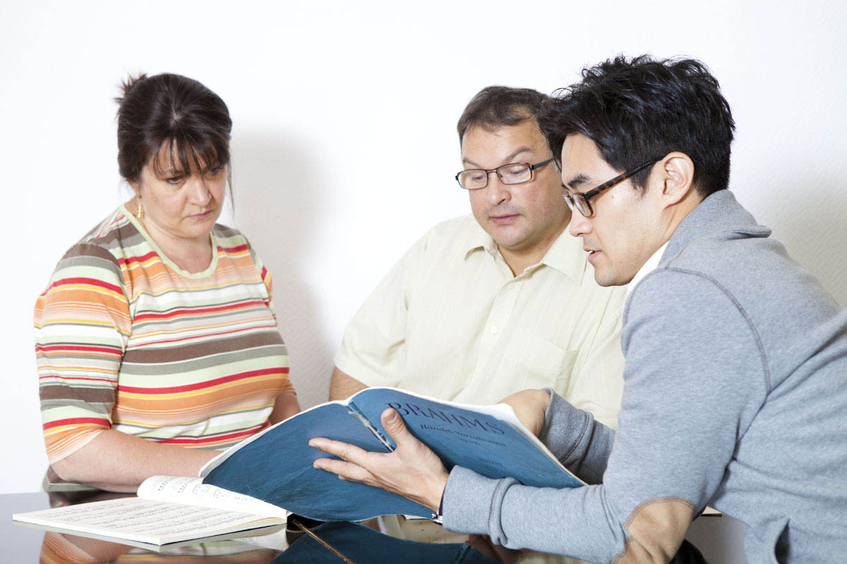 Beratung der Eltern in der Musikschule in Kornwestheim